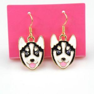 Hero the Husky Dog Earrings